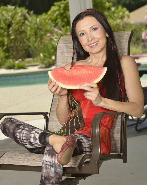 Tonya with Watermelon